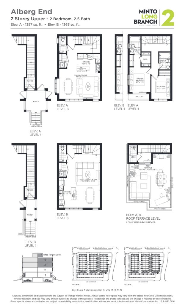 Minto Longbranch Townhomes - Alberg End Floorplan --