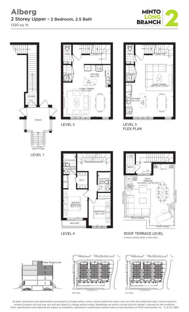 Minto Longbranch Townhomes - Alberg Floorplan --