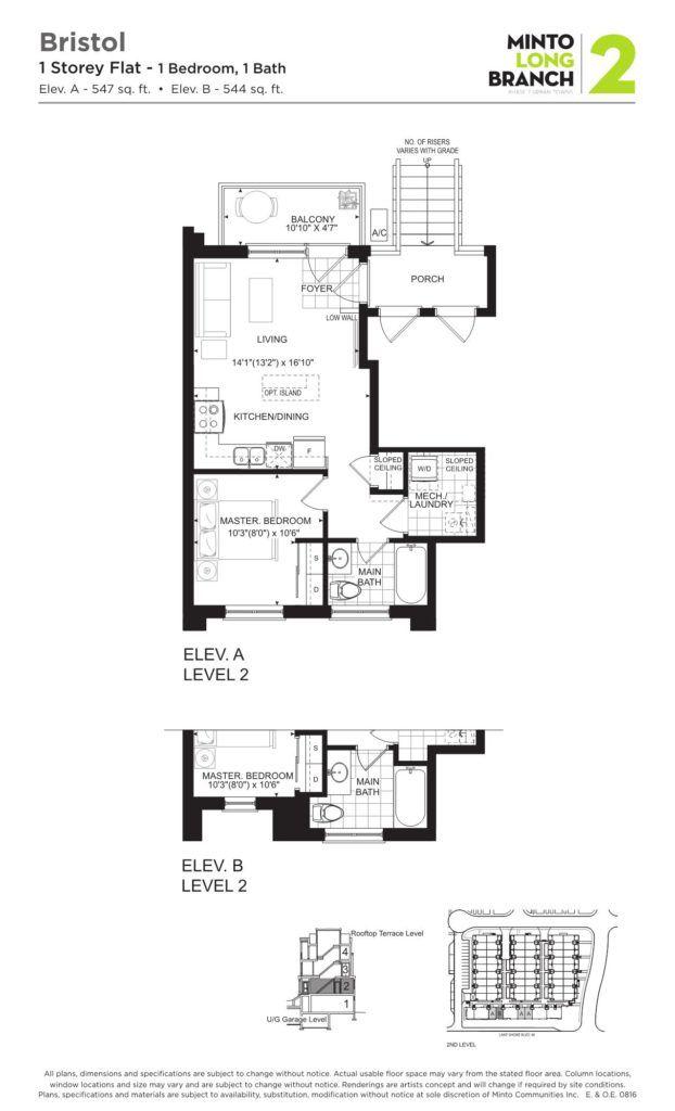 Minto Longbranch Townhomes - Bristol Floorplan