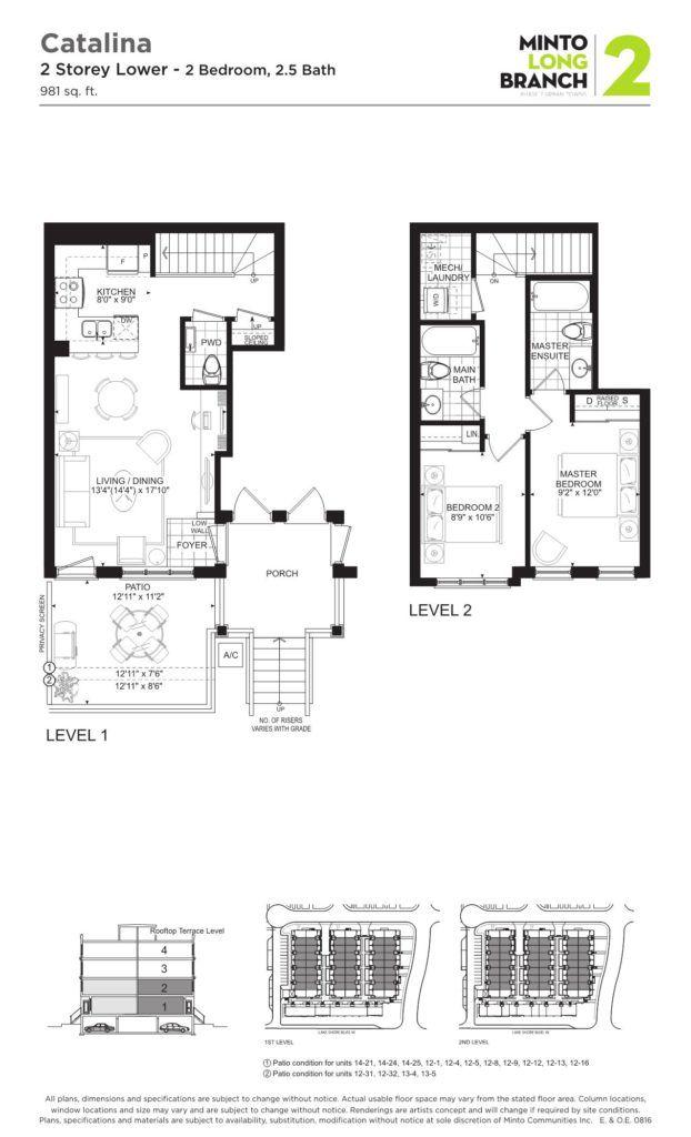 Minto Longbranch Townhomes - Catalina 2 Floorplan --
