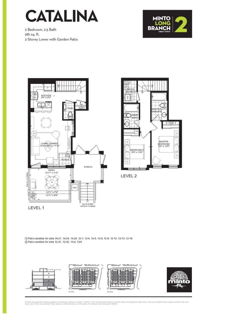 Minto Longbranch Townhomes - Catalina Floorplan --