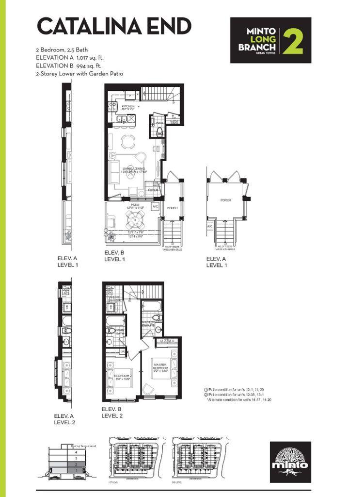 Minto Longbranch Townhomes - Cataloina End Floorplan --