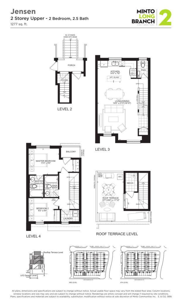 Minto Longbranch Townhomes - Jensen Floorplan