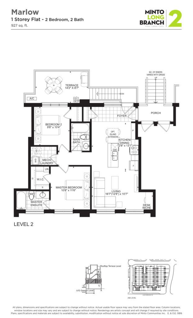 Minto Longbranch Townhomes - Marlow Floorplan