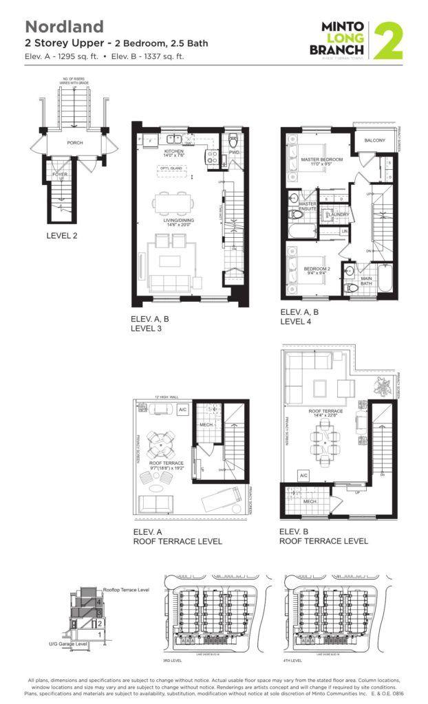 Minto Longbranch Townhomes - Nordland Floorplan