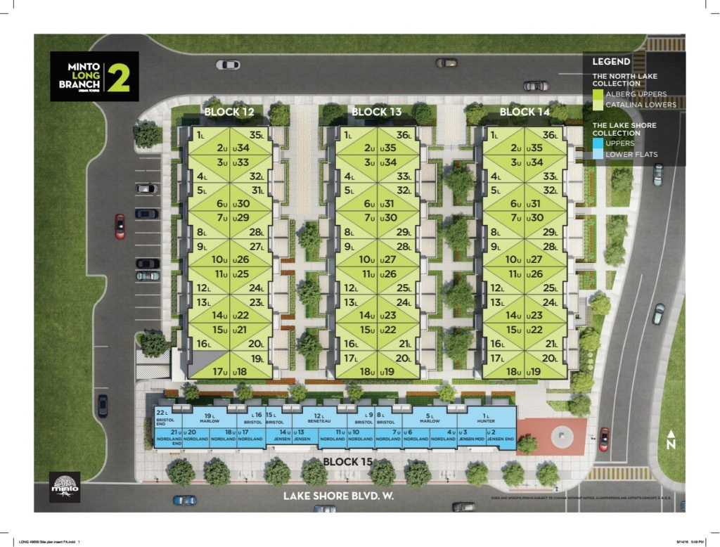 Minto Longbranch Townhomes - Sitemap