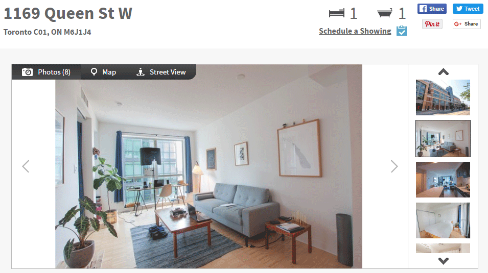 ONE BED FOR SALE - 1169 QUEEN WEST - CONTACT YOSSI KAPLAN