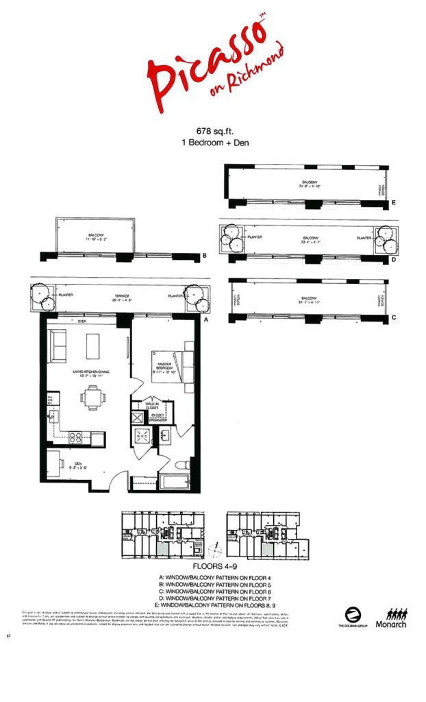 PICASSO CONDOS - ASSIGNMENT FLOORPLAN 678 SQ FT - CONTACT YOSSI KAPLAN 416.479.4241