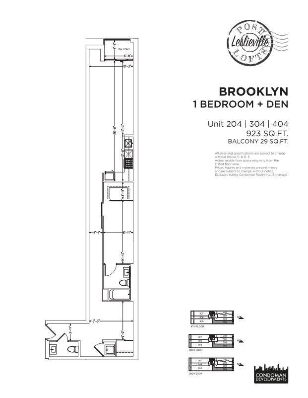Post Lofts - Brooklynn Model Floorplan