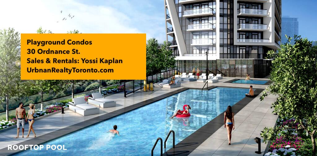 Rooftop Pool @ Playground Condos - 30 Ordnance St.