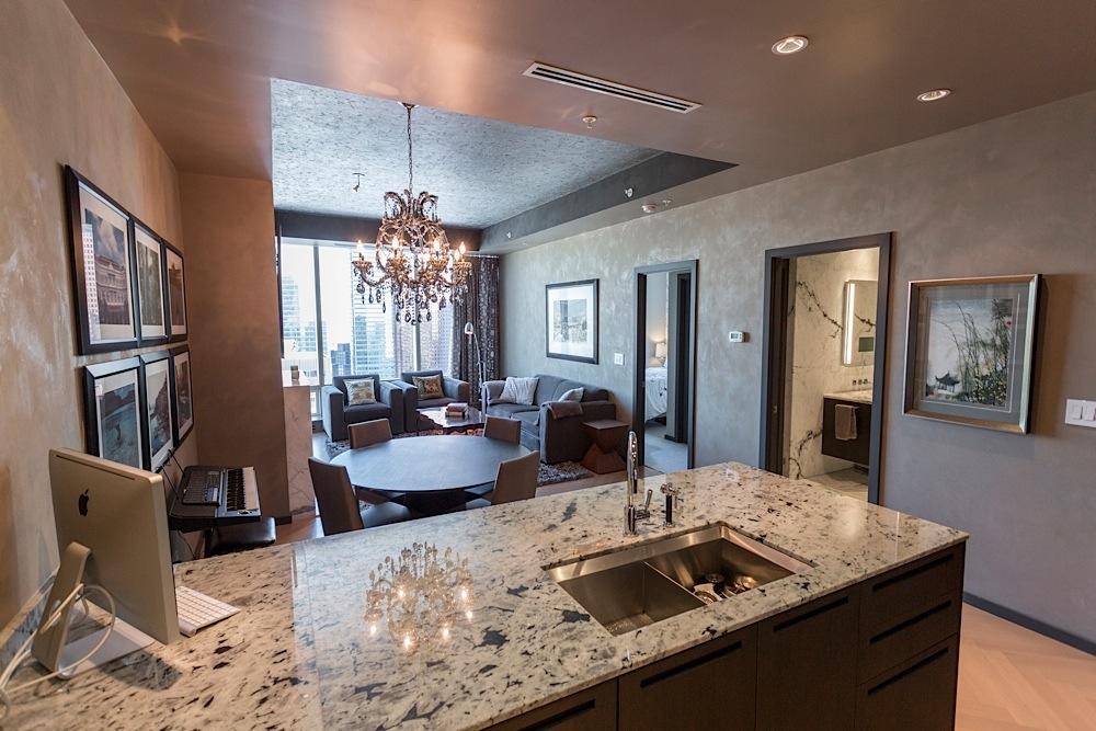 180 University Condo Living Room (Shangri-La Toronto)