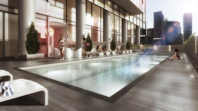 THE BOND CONDOS ROOFTOP POOL - 290 ADELAIDE WEST
