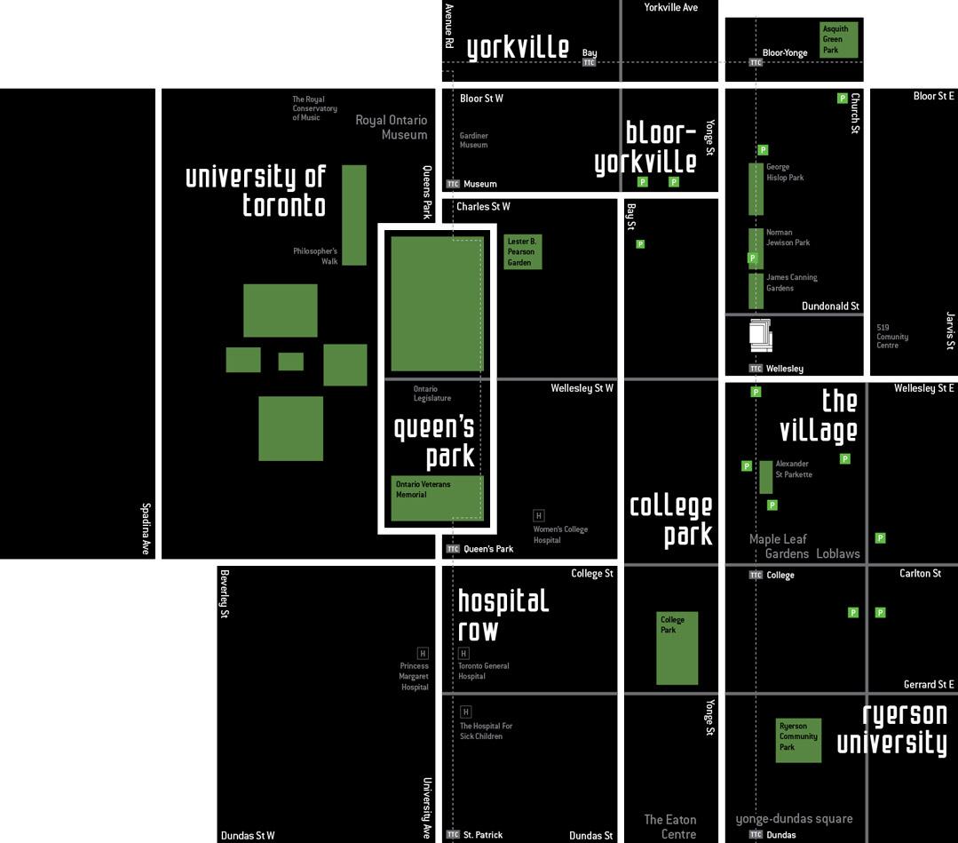 TOTEM CONDOS 17 DUNDONALD - AREA MAP