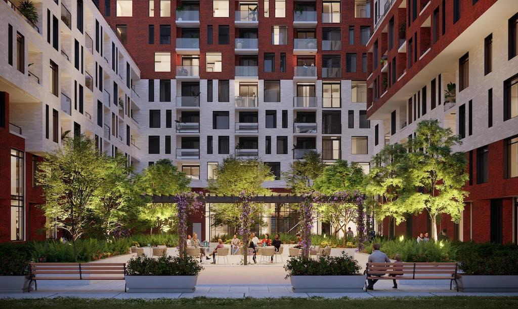 The Keeley Condos - Inner Courtyard - Sales Yossi Kaplan