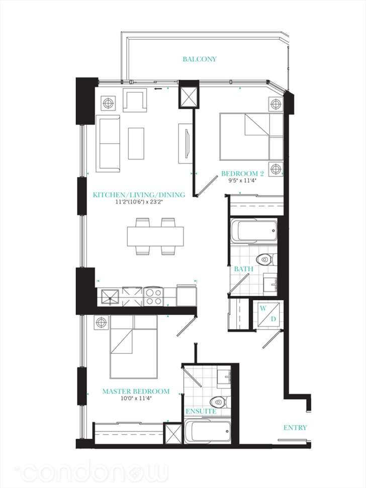 The PJ Condos Residence 07 floorplan