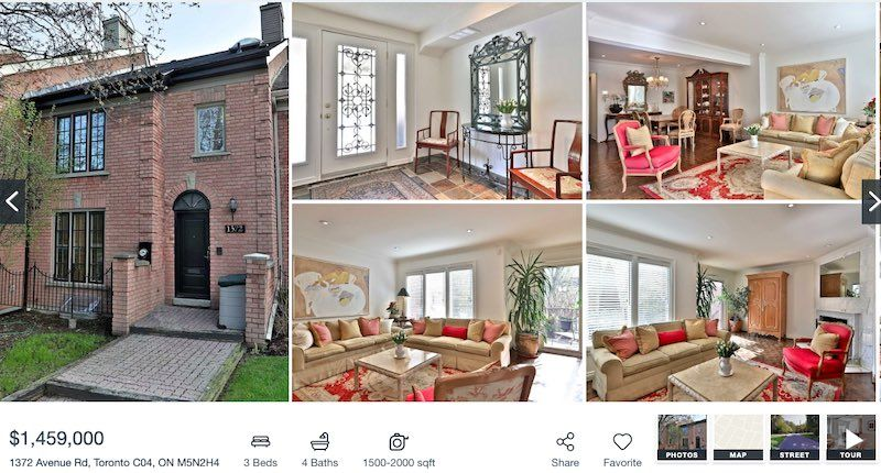 Toronto Townhome For Sale by Yossi Kaplan - 1372 Avenue Rd