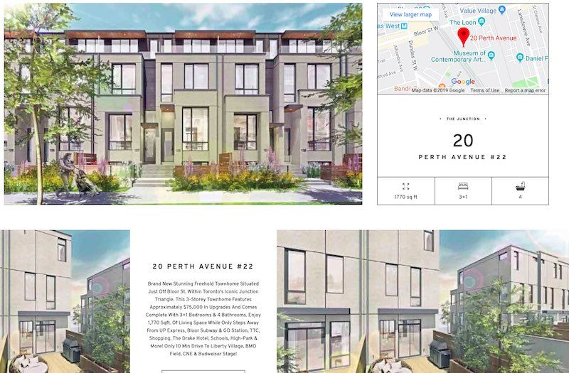 Toronto Townhome For Sale by Yossi Kaplan - 20 Perth Ave