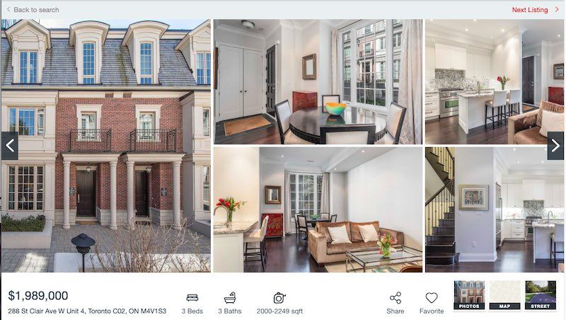 Toronto Townhome For Sale by Yossi Kaplan - 288 St. Clair
