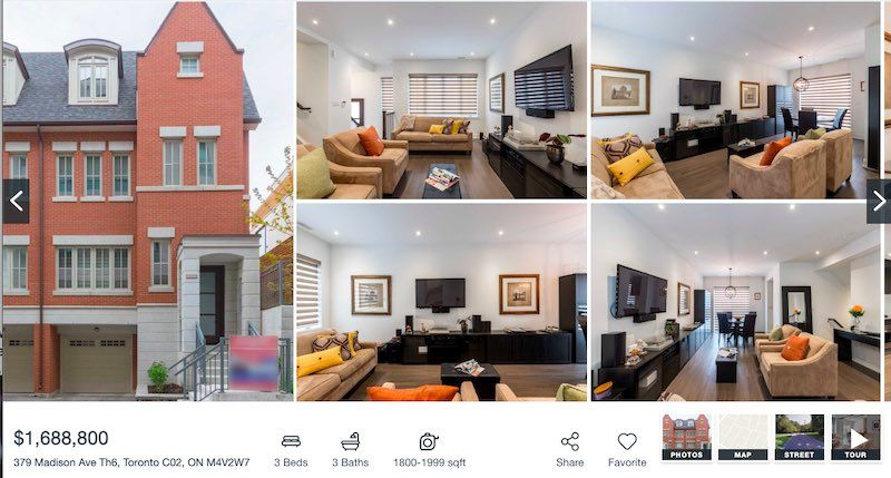Toronto Townhome For Sale by Yossi Kaplan - 379 Madison AVe