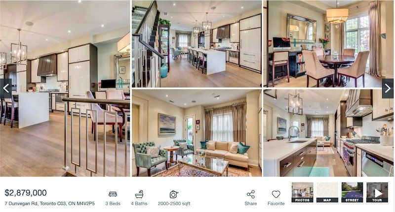Toronto Townhome For Sale by Yossi Kaplan - 7 Dunvegan Rd