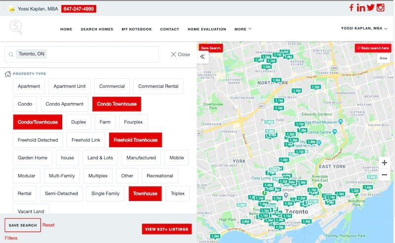 Toronto Townhome Search - 627+ Results