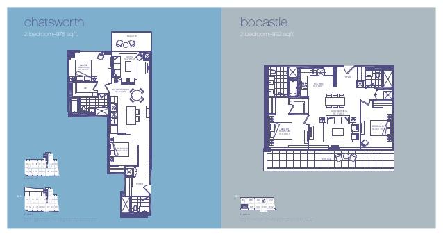 Two Bedroom Floorplans - 3018 Yonge in lawrence Park