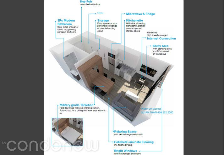 University Studios Oshawa 1800 North Simcoe - Unit Layout - Contact Yossi Kaplan