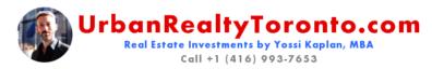 UrbanRealtyToronto.com | Real Estate Investments by Yossi Kaplan, MBA
