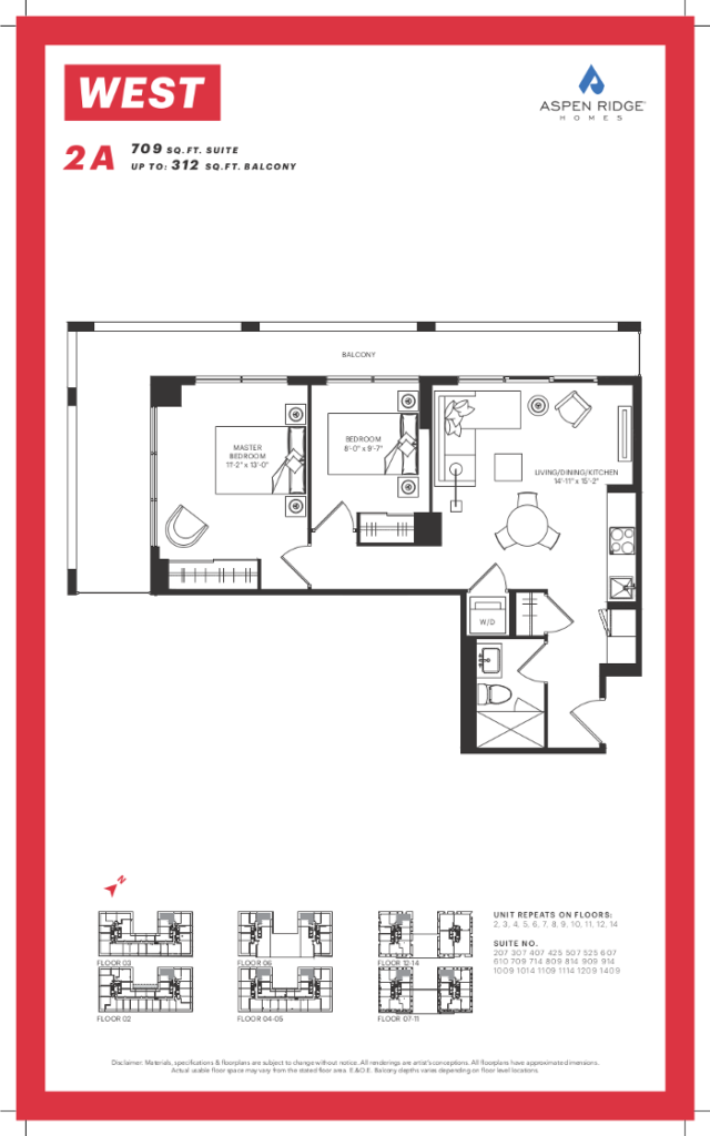 West Condos - 2A Floorplan - VIP Sales Yossi KAPLAN