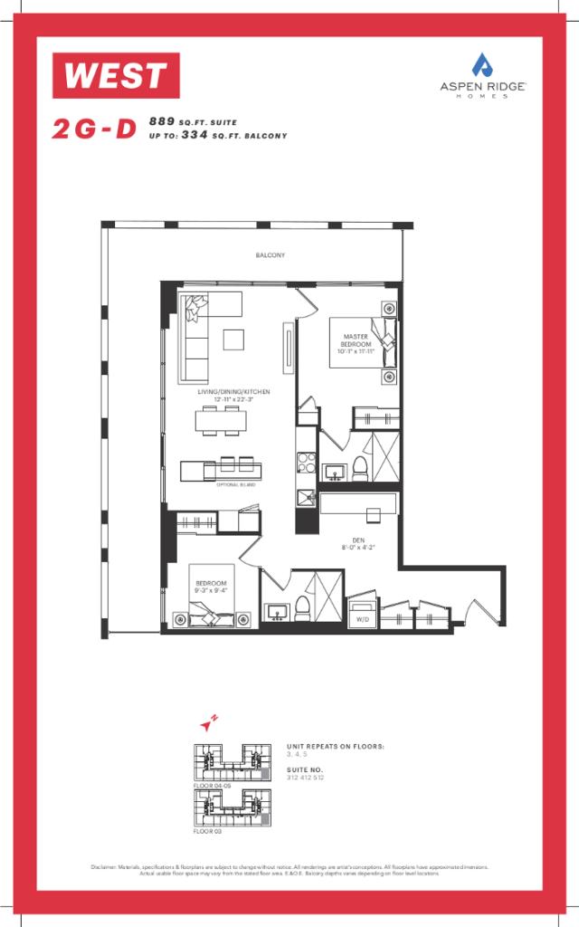 West Condos - 2G-D Floorplan - VIP Sales Yossi KAPLAN