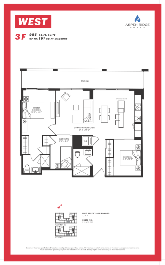 West Condos - 3F Floorplan - VIP Sales Yossi KAPLAN