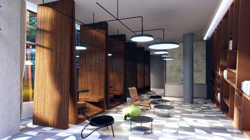 West Condos @ 89-109 Niagara St. - Lobby Lounge