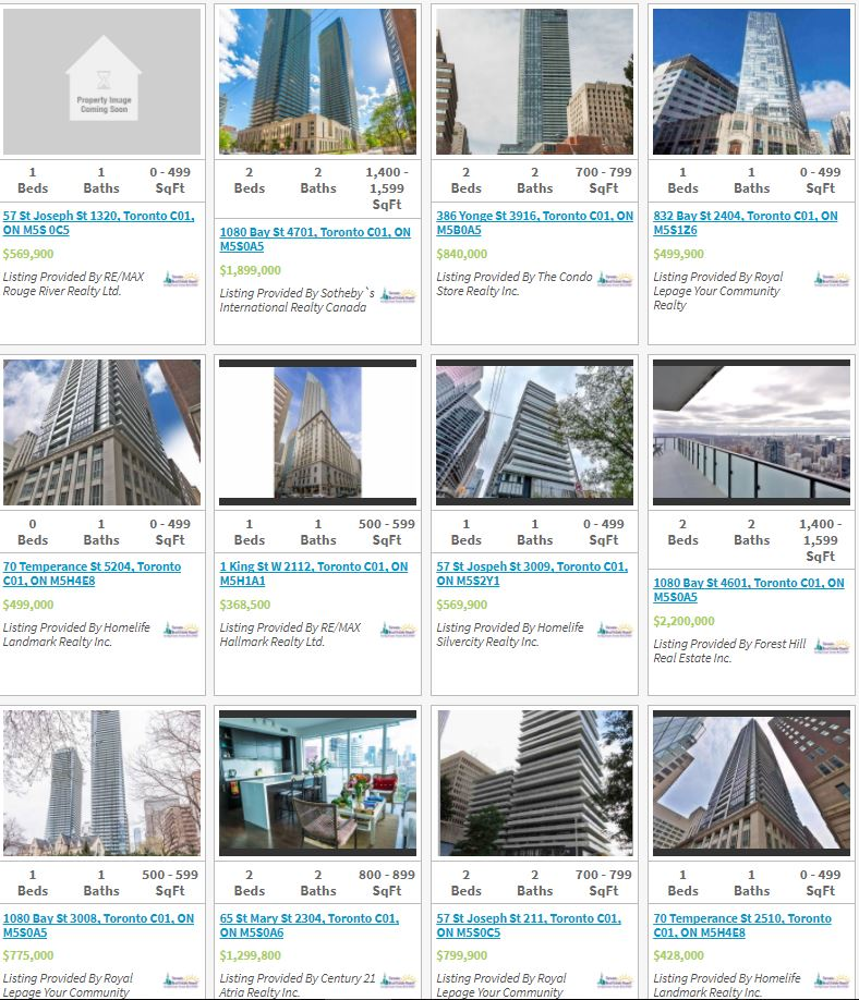 YONGE BAY BLOOR Condos For Sale - LIVE LISTINGS
