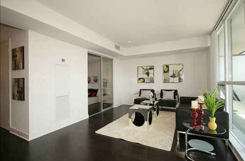 The Modern - One Bed + Den - Living Room 2